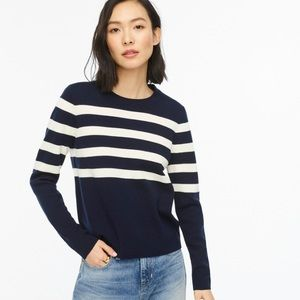 J crew relaxed fit crew neck sweater aw823 stripe
